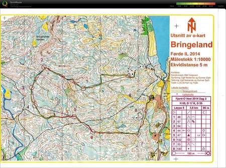 Fjord O Forde August 2nd 2014 Orienteering Map From May Lill Damm