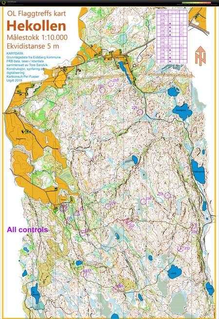 Pose Jukola Test Hsk May 31st 2019 Orienteering Map From Tam