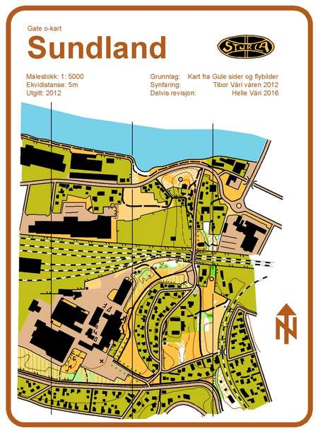 Sundland Gate O Kart March 31st 2012 Orienteering Map From