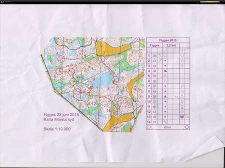 Figges Gp June 23rd 2015 Orienteering Map From Camilla Ohman