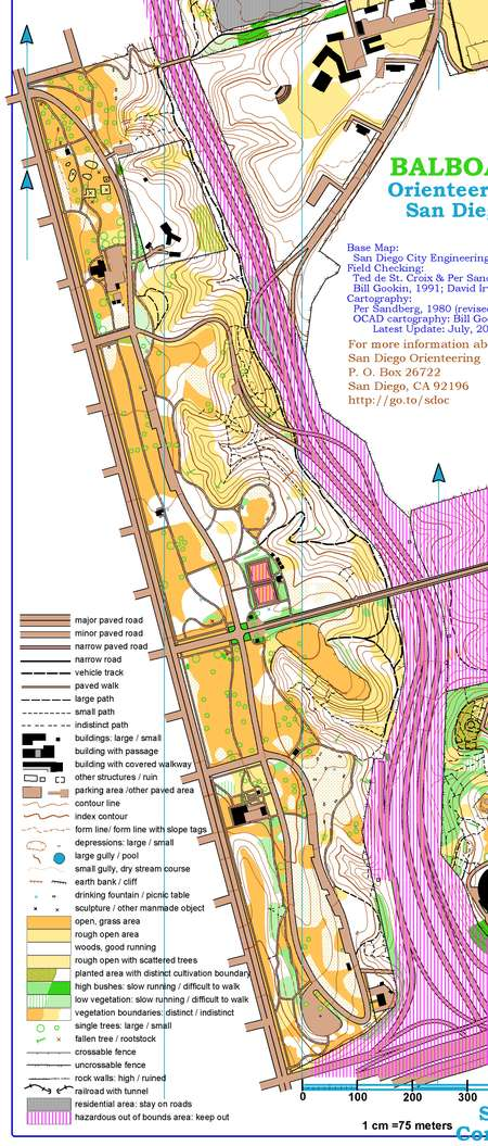 Balboa Park Motala - July 7th 2007 - Orienteering Map from ...