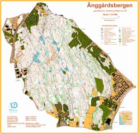 Goteborg Majorna Ok Kort October 21st 2001 Orienteering Map