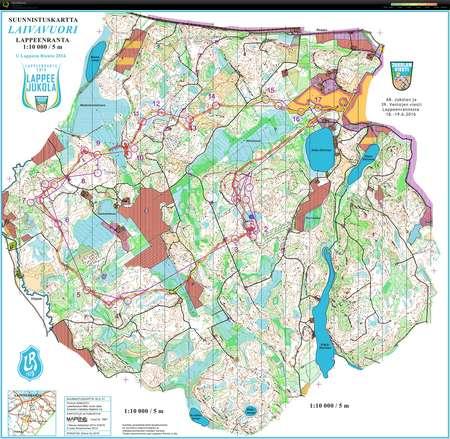 Jukola 2016 Lappeenranta Leg 4 June 19th 2016 Orienteering Map