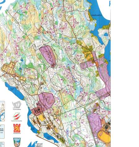 MikkeliJukola 2009 June 14th 2009 Orienteering Map from Toni
