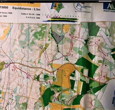 5-jours de France E3 - July 7th 1999 - Orienteering Map from