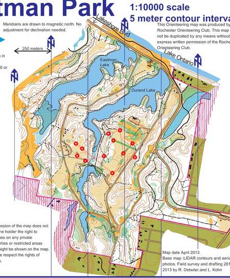 Durand Eastman Park Score O August 7th 2014 Orienteering Map From Misc Us Events