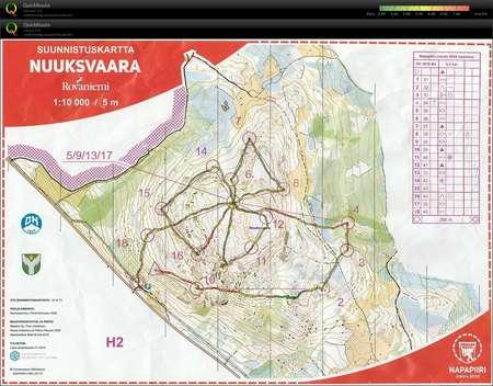 Rovaniemi 2 Nuuksvaara July 30th 2019 Orienteering Map From