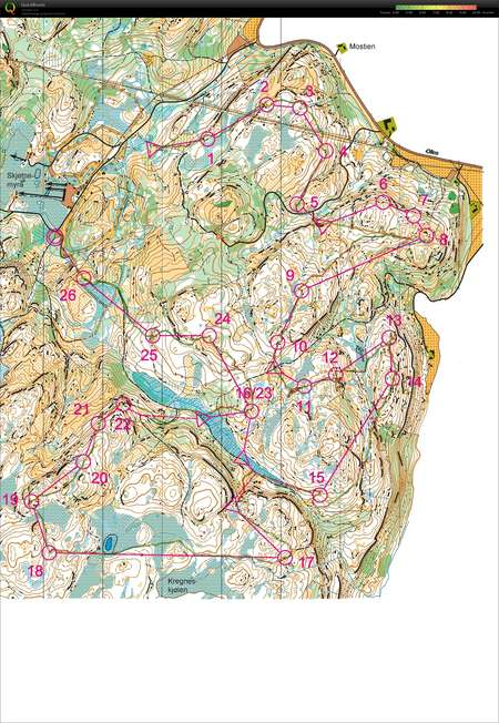 O Intz I Sjetnemarka May 14th 2017 Orienteering Map From Isak