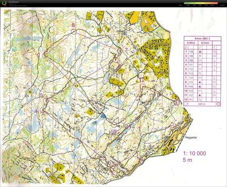 kart kjekstadmarka Asker ABC #2   April 21st 2016   Orienteering Map from Vegard  kart kjekstadmarka