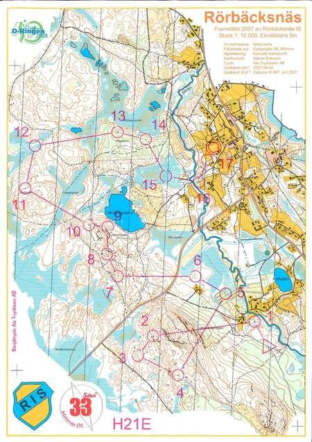 3+3 medel - July 1st 2007 - Orienteering Map from Jonas ...