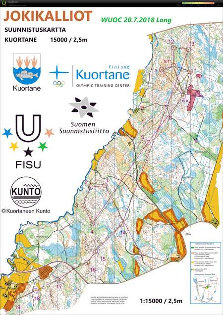 Wuoc 2018 Long July 20th 2018 Orienteering Map From Aleksi