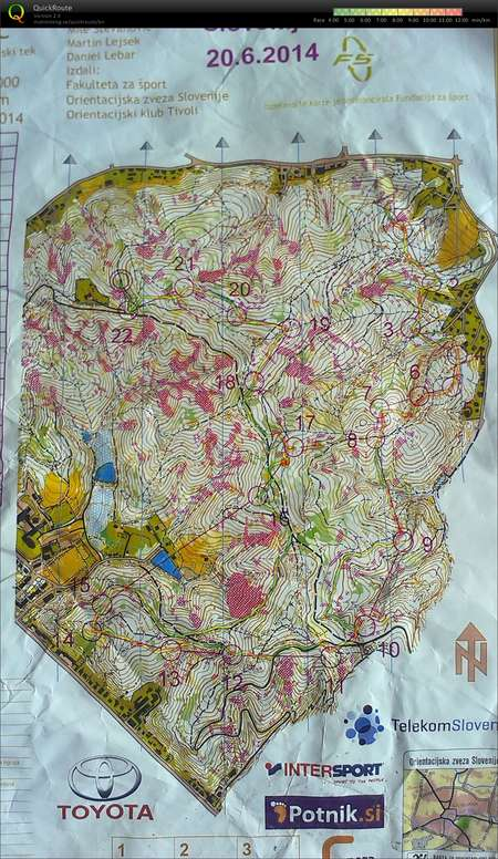 Slo3says June 20th 2014 Orienteering Map From Peter Tusar