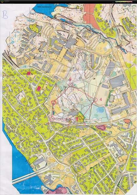 Sloyfe B March 5th 2015 Orienteering Map From Marius Aurebekk