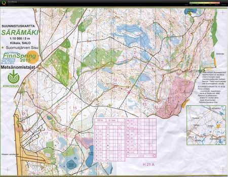 Finnspring Viesti April 26th 2015 Orienteering Map From