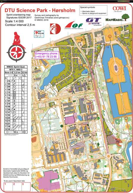 Wmoc Sprint Kval H70 1 July 7th 2018 Orienteering Map From
