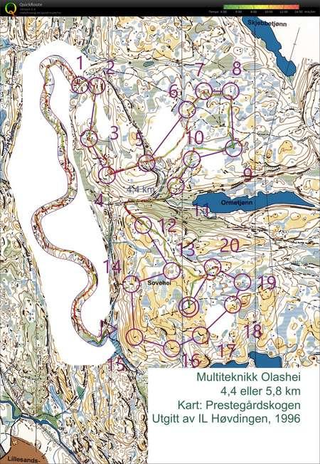O Trening Sovehei December 29th 2018 Orienteering Map From