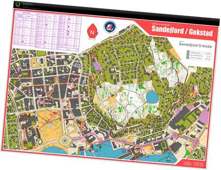 Sandefjord City Race December Th Orienteering Map From - Norway map sandefjord