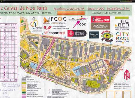 Catalonia Sprint Cup November 1st 2014 Orienteering Map From