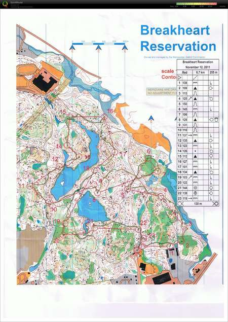 NEOC: Breakheart Red - November 13th 2011 - Orienteering Map from ...
