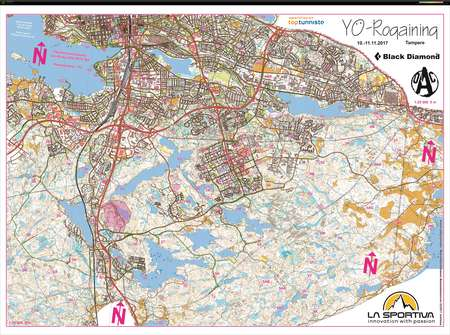 YRogaining Tampere November 10th 2017 Orienteering Map from