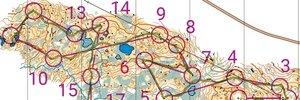 Hardøkt på usynfart kart på Rørvikfjellet
