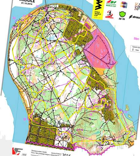 World Cup Middle Kaunas October Rd Orienteering Map From - Kaunas map