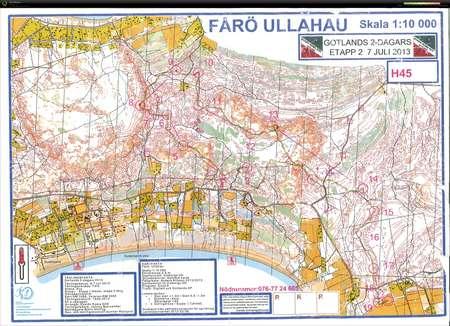 Gotlands 2 Dagars Etapp 2 July 7th 2013 Orienteering Map From