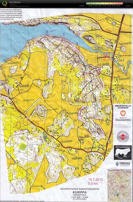 Kurppa July 15th 2012 Orienteering Map From Esa Orava