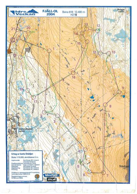 Karta Idre.Idre Fjall Ol June 20th 2004 Orienteering Map From Tobias Eliasson