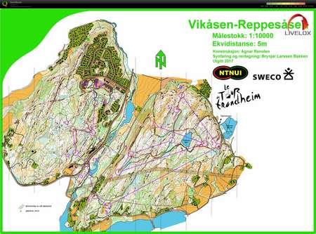 Tour de Trondheim Jaktstart September 17th 2017 Orienteering Map