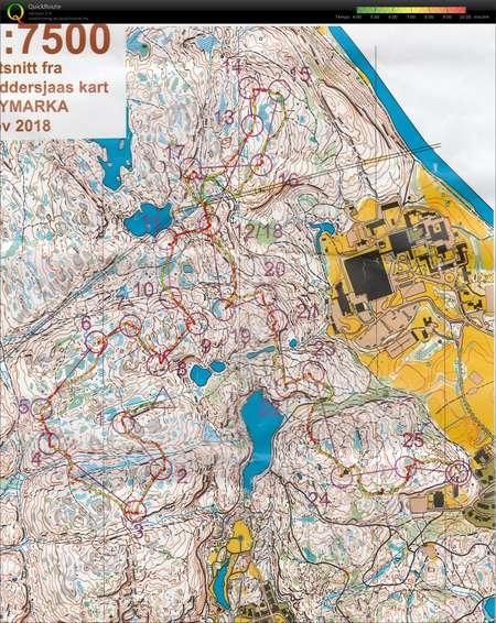 Lordagstrening November 10th 2018 Orienteering Map From Havar