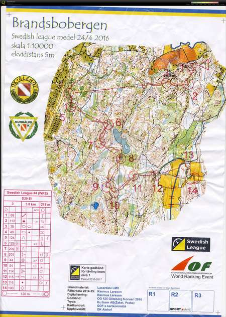 Karta Zinkgruvan.Swedish League April 24th 2016 Orienteering Map From Maria