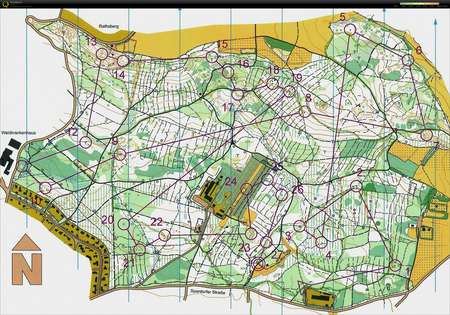 Nattrning NO Erlangen October 24th 2017 Orienteering Map from