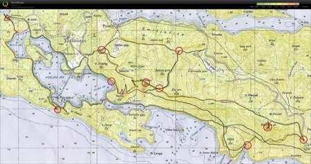 Mlijet trek - May 21st 2011 - Orienteering Map from Andraz