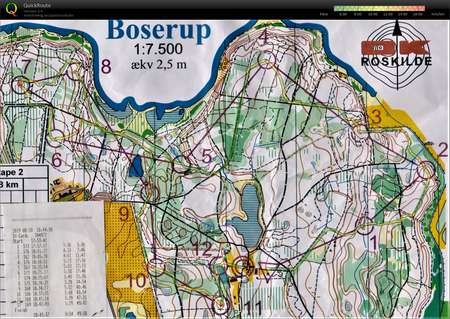 Rokilde3dages August 21st 2019 Orienteering Map From Tage