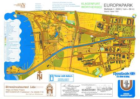 Europapark Klagenfurt March 13th 2017 Orienteering Map from