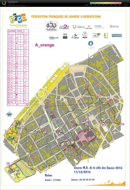 MD A Orange Reims December 11th 2016 Orienteering Map from