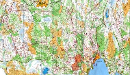 NMstafett 3etp Kongsvinger August 22nd 2004 Orienteering Map