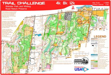 Webster Park Trail Challenge September 9th 2012 Orienteering Map From Misc Us Events