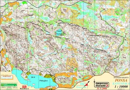 Taito5 Ponsa May 31st 2006 Orienteering Map From Tampereen