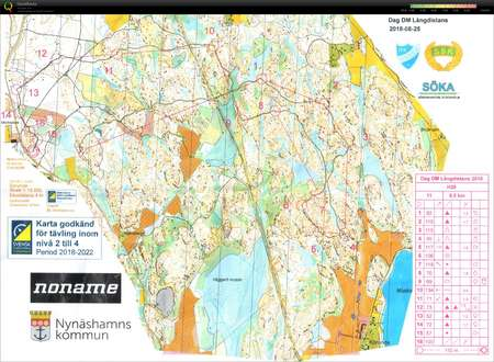 Dm Langdistans August 25th 2018 Orienteering Map From Oskar