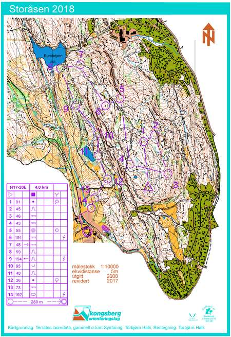 Mellom H 17 20 May 21st 2018 Orienteering Map From Gpsseuranta