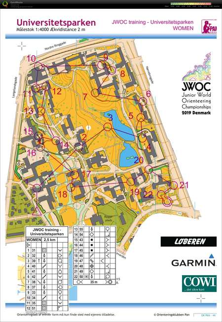 Pre Jwoc 2019 August 14th 2018 Orienteering Map From Fiona Bunn