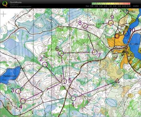 Forssa Games June 11th 2009 Orienteering Map from Kim Fagerudd