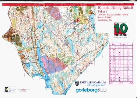 Tiosamling 5 Kort Natt November 19th 2016 Orienteering Map