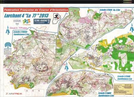 La 77 Larchant Fontainebleau January 13th 2013 Orienteering