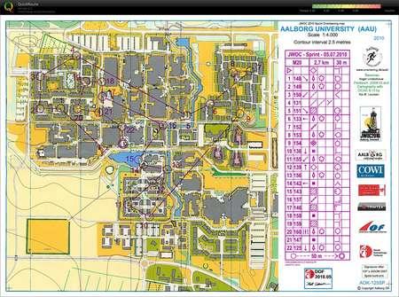 JWOC Tour 2 Aalborg Universitet July 5th 2010 Orienteering Map
