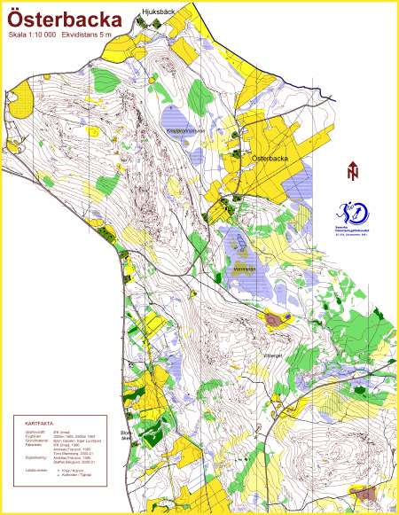 IFK Ume kort June 2nd 2001 Orienteering Map from RunOway maps