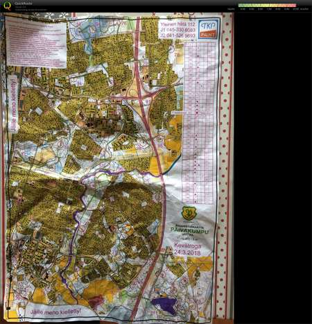 Kevatroga March 24th 2018 Orienteering Map From Pasi Romppainen