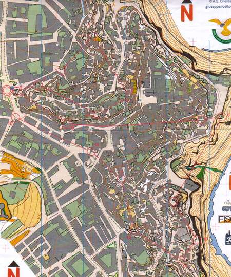 Training Matera Italy March 3rd 2008 Orienteering Map From